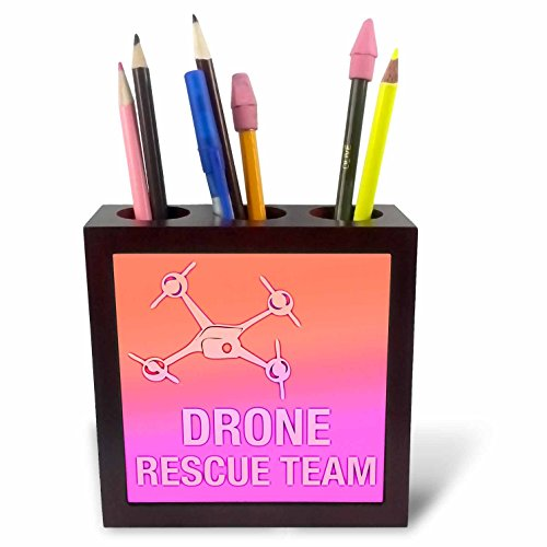 3drose PH 179917 1 Big Green drone met UAV Pilot Tile pennenhouder, 12,7 cm