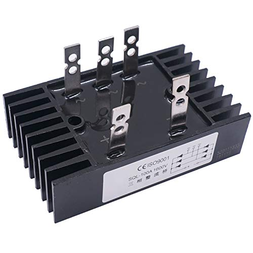 Taiss/SQL 100A Amp 1600V Heatsink Shape 3 Phase Diode Metal Case Bridge Rectifier SQL100A
