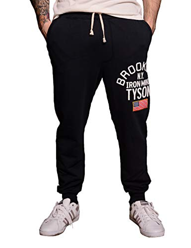 Roots of Fight Officially Licensed Men's Mike Tyson Iron Mike Sweatpants, Size Large