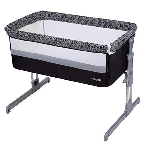 Safety 1st Beistellbett Calidoo, höhenverstellbares Babybett, gemütlich und weich gepolstert, das Beistellbettchen ist nutzbar ab der Geburt bis max. 9 kg, geometric