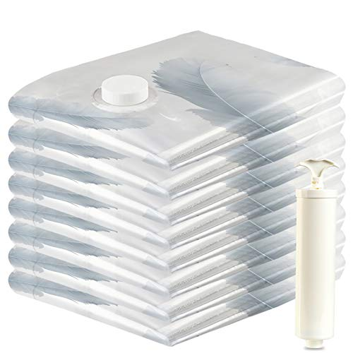 VacBest Vacuum Storage Space Saver Bags (8 Large) With Hand Pump