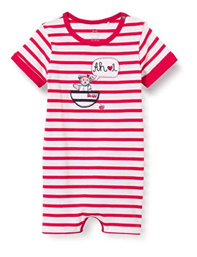 Steiff Baby-Mädchen Strampler Nachthemd, True RED, 080