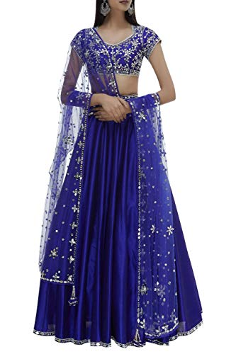 ETHNIC EMPORIUM Designer Indiano Sposa Bollywood Lehenga Choli Dupatta ghaghara Gonna Reale da Sposa Top Set con Christian Wedding Women Dress Abito da Festa Musulmano Indian Women 8446