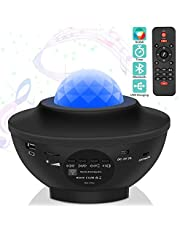 Ganeed Laser Star Projector,LED Night Light Projector with Nebula Cloud,3 in 1 Sky Ocean Wave Projection with Bluetooth Speaker Voice Control for Birthday Party Home Theatre Baby Kids Bedroom