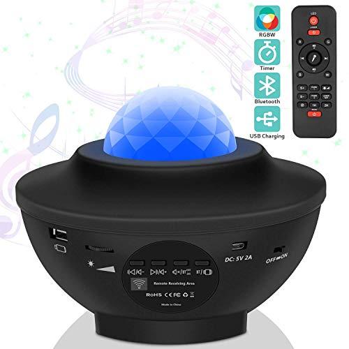 Estrella noche luz proyector - Bluetooth altavoz música