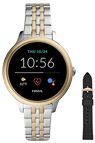 Fossil Smartwatch GEN 5E Connected da Donna con Wear OS by Google, Frequenza Cardiaca, Notifiche per Smartphone e NFC, con Cinturino in Silicone Rosa