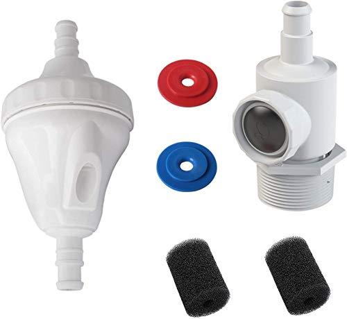 Poweka G52 Válvula Kit de Repuesto Compatible con Polaris 180, 280, 380 con 9-100-9001 Conjunto de Conector y 9-100-3105 Lavador de Cola de Manguera de Barrido