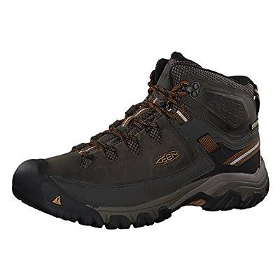 KEEN Men's Targhee III Mid Height Waterproof Hiking Boot, Black Olive/Golden Brown, 12 D (Medium) US