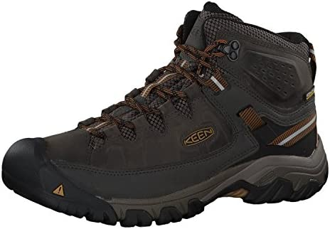 KEEN Men s Targhee III Mid Height Waterproof Hiking Boot Black Olive Golden Brown 12 D Medium product image