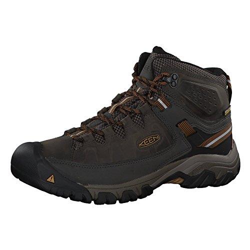 Keen Targhee III Waterproof Mid, Zapatos de High Rise Senderismo Hombre, Verde (Black Olive/Golden Brown 0), 41