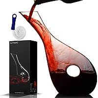 nutriups decanter per vino, decanter per vino rosso, decanter vino, caraffa vino, decanter cristallo per vino, decanter per vino caraffa, vino decanter, decanter per vino a cerchio vuoto (diagonale)