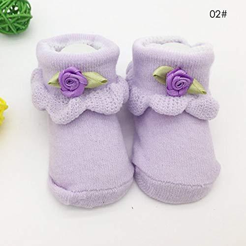 Borlai sokken van katoen, antislip, voor baby's, schattige schoenen