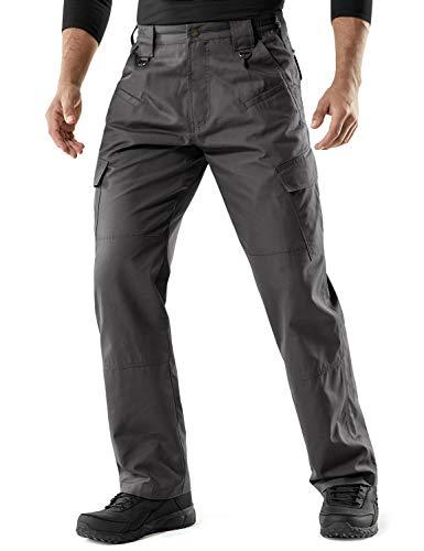 CQR Men's Tactical Pants Lightweight EDC Assault Cargo, Assault Duratex(tlp106) - Charcoal, 34W x...