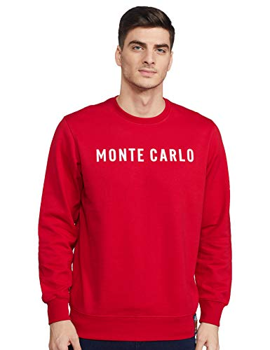 Monte Carlo Mens Full Sleeve Round Neck Sweatshirt (220050716-2_Red_42)