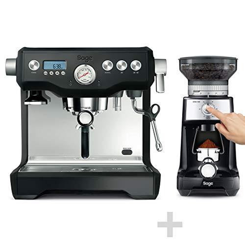 SAGE SES920 the Dual Boiler, zeefdrager, espressomachine met 15-bar-dubbele pomp + gratis SAGE SES920 koffiemolen - the Dose ControlTM Pro Black Truffle