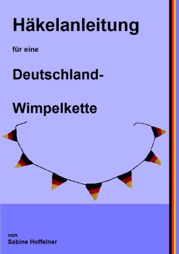 Häkelanleitung für eine Deutschland-Wimpelkette