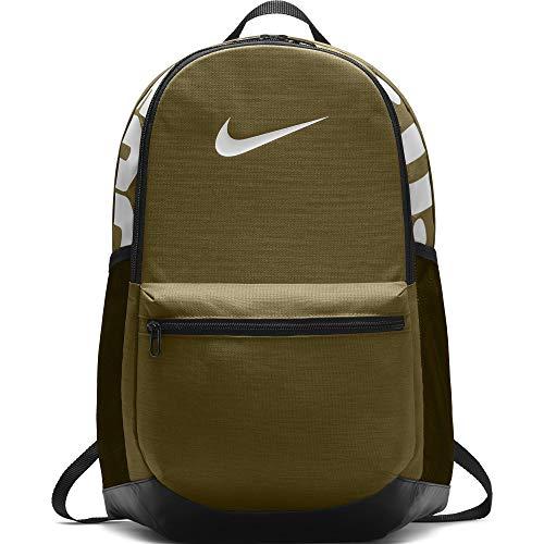 NIKE Brasilia Medium Backpack Olive/Black/White