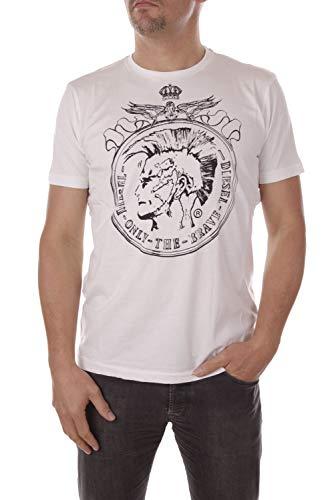 Diesel T-Coin Herren T-Shirt (L, Weiß)