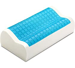 1. Contour Memory Foam Pillow with Cooling Gel by PharMeDoc
