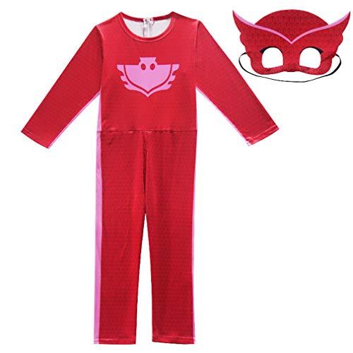 Hivia Kinderkostüm Catboy für Mädchen Junge Kostüm Halloween Cospaly Verkleidung Maskierter Superheld Faschingskostüm