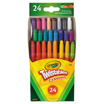 Twistables Mini Crayons 24 Colors/Pack (30 Pack)