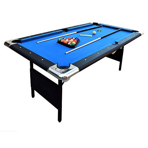 Purchase Hathaway Fairmont Portable 6-Ft Pool Table for Families with Easy Folding for Storage, Incl...