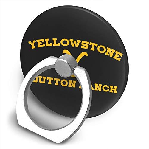 Fingerring 360 grados Drehbare Handy soporte para teléfono móvil, ajustable Abs-Ständer, Rip Can Be My Ranch Hand Anyday Yellowstonedutton Ranch Ring atril, mango compatible para todos los iPhone, tablets