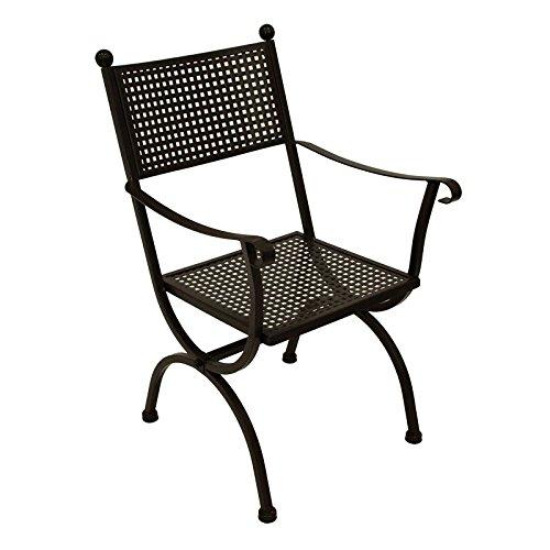Gartenmoebel MBM Gartensessel Romeo Schmiedeeisen Marone-antik Gartenstuhl Sessel