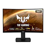 """Asus TUF Gaming VG32VQ 32"""" Curved Gaming Monitor FreeSync HDR Elmb Sync 1440P 144Hz 1ms Eye Care with DP HDMI (Renewed)"""