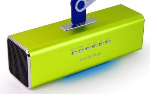MusicMan MA Lautsprecher (MP3-Player, Soundstation & Radio, USB, Line-In) grün