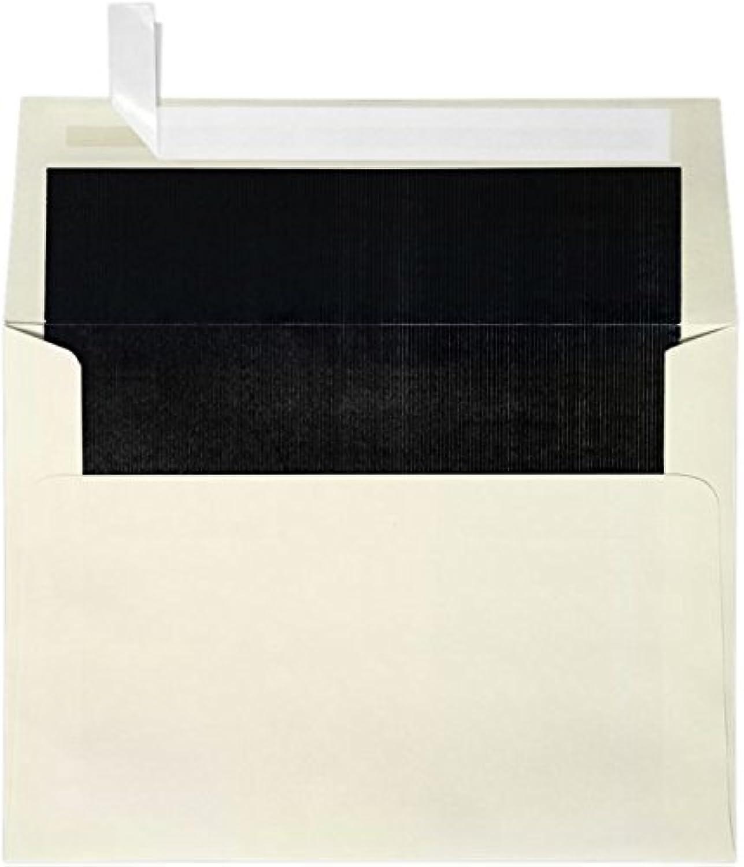 A7 Foil Lined Invitation Envelopes w Peel & Press Press Press (5 1 4 x 7 1 4) - Natural w schwarz LUX Lining (50 Qty.) by Envelopes Store B009UZGZ96 | Elegantes und robustes Menü  3a49da