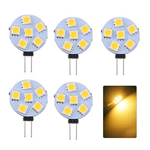 Lixada 5 Teilige G4-Sockellampen 6 Leuchtdiode SMD 5730 180LM Energiesparlampe DC12V