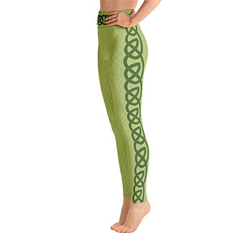 Kelsey Thornton Irish Yoga Leggings, Saint Patrick's Day, Celtic Knots White