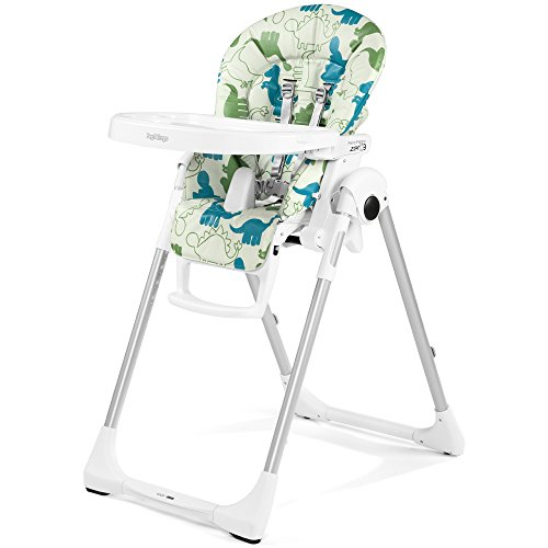 Peg-Pérego Prima Pappa Zero3 - Chaise Haute,Blanc(Dino Park)