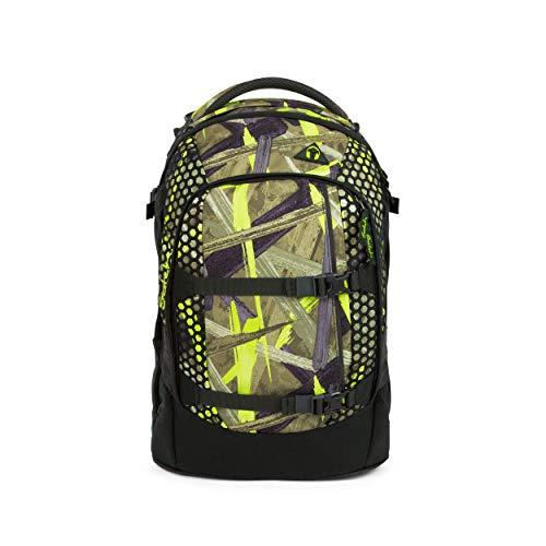 satch Pack Jungle Lazer, ergonomischer Schulrucksack, 30 Liter, Organisationstalent, Olive/Grün