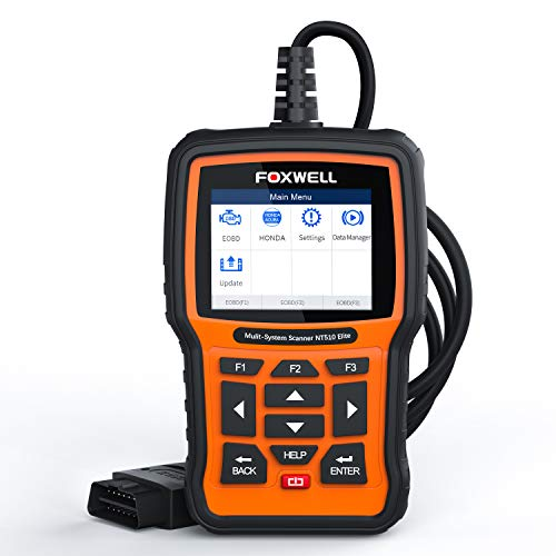 Sale!! FOXWELL NT510 Elite OBD2 Bi-Directional Scan Tool for Honda Acura All System Diagnostics ABS ...