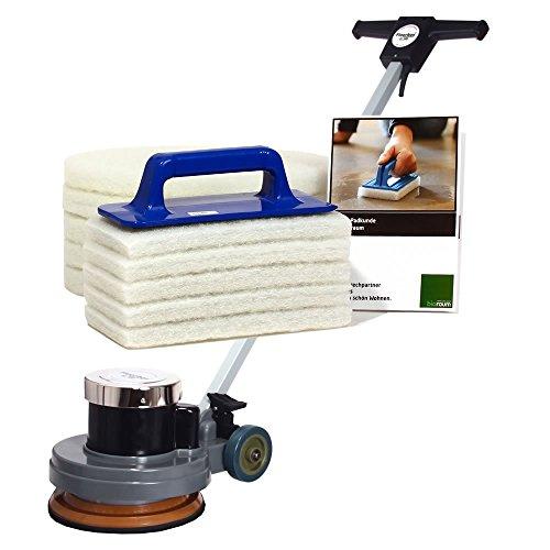 Floorboy 300 XL Polierset, Poliermaschine mit Handpadhalter, Pads, Anleitungen und Padkunde von Bioraum