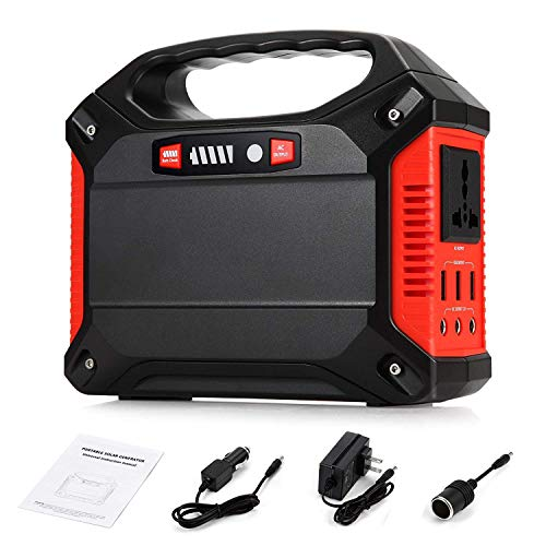 LNLJ Tragbarer Generator 42000mAh 155Wh wiederaufladbare Battery Pack Emergency Power Outdoor Camping Home Solar Panel/Wall Socket/Car Charging (Black + Red)