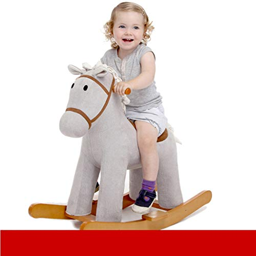 Learn More About Rocking horse LITING Baby Wood Small Wooden Horse Baby Children's Toys Birthday Gif...