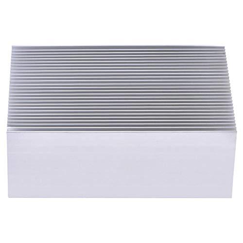 Aluminium Kühlkörper, Aluminiumkühlkörper, für LED-Verstärkertransistor-IC-Modul, mit 23 Lamellen, 100 x 69 x 36 mm