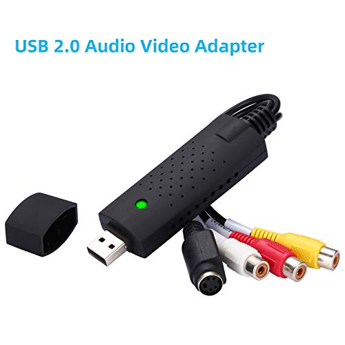Yizhet USB 2.0 Audio Video Konverter, Video Grabber Neue Software Windows XP/Vista/7 kompatibel, fähig VHS VCR DVD Videoadapter, VHS Digitalisieren und Video Bearbeiten
