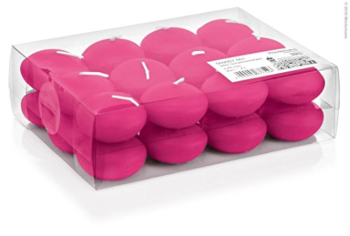 Schwimmkerzen Pink 24 Stück 45 mm Durchmesser