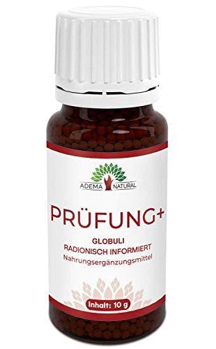 Adema Natural PRÜFUNG+ Globuli - Prüfungsstress, Konzentration, Booster für Erwachsene und Kinder, Globuli mit 10g Inhalt