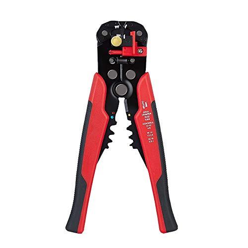 ZJN-JN Alicates 1PC0.5 Strippers Cable mm -6 mm de cizallamiento engaste máquina Multifuncional Pelacables automático for pelar 0.2-6mm eléctrica (Color : Red 0.2 6)