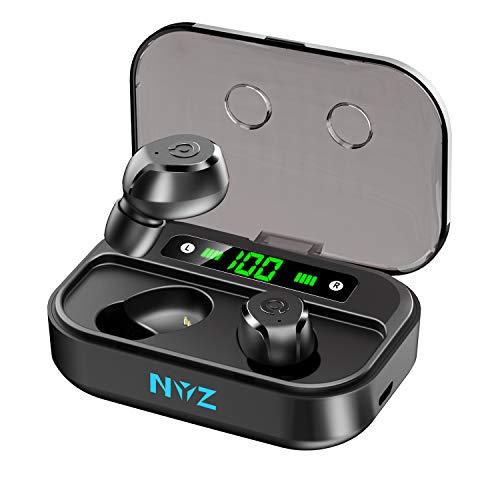 Bluetooth Kopfhörer In Ear, NYZ Kopfhörer Kabellos mit intensivem Bass, True Wireless In Ear Kopfhörer mit LED Digitalanzeige,80 Stunden Arbeitszeit, IPX7 Wasserdicht Sport-Kopfhörer.