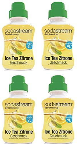 Sodastream Getränkesirup Ice Tea Zitrone Geschmack 375ml (4er Set) Sirup