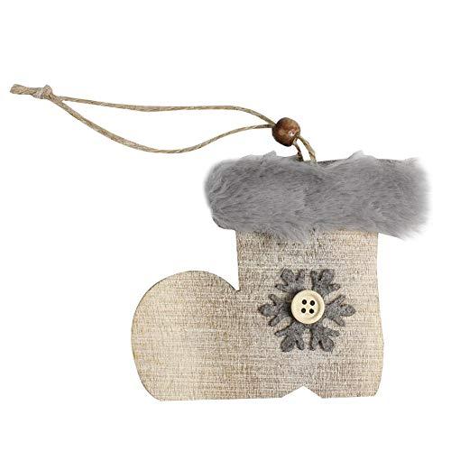 Heoolstranger houtwol diamant hanger kerstboom sterren klokken hoed kerstdecoratie knutselen voor thuis rationeel