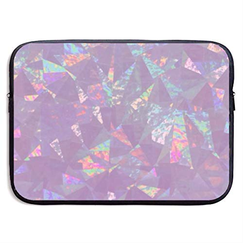 Waterproof Laptop Sleeve 15 Inch, Iridescent Holographic Business Briefcase Protective Bag, Computer Case Cover for Ultrabook, MacBook Pro, MacBook Air, Asus, Samsung, Sony, Notebook