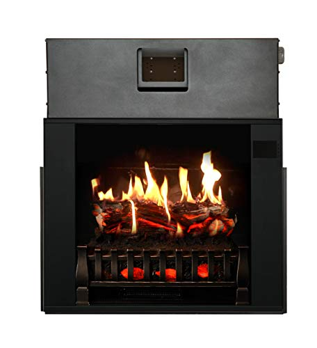 "MagikFlame Electric Fireplace 28"" Insert - Large Black Firebox - 30 Flames, Large, Freestanding, 5,200 BTU Heater, Crackling Log Sound, Bluetooth, App - New Home Design, Remodels, Family Atmosphere"