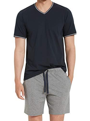 Marc O'Polo Body & Beach Herren Lounge M-LOUNGESET CREW-NECK\' Zweiteiliger Schlafanzug Kurz, Blau (Nachtblau 804), X-Large